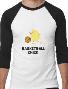 Basketball Chick Men's Baseball ¾ T-Shirt
