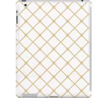 Cross hatch in Gold Pattern iPad Case/Skin