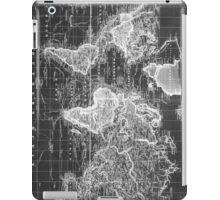 Vintage Map of The World (1833) White & Black iPad Case/Skin