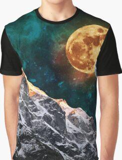 Mountain Peak Night Graphic T-Shirt