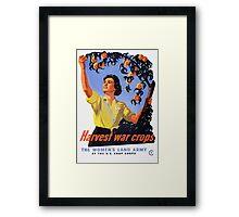 Women's Land Army Harvesting WW2 Framed Print