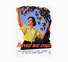 Women's Land Army Harvesting WW2 Womens Fitted T-Shirt