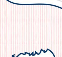 Pink Watercolor Pinstriped Preppy Retriever Dog Sticker