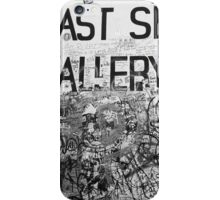 East Side Gallery - Black and white iPhone Case/Skin
