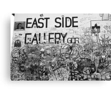 East Side Gallery - Black and white Canvas Print