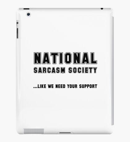 National Sarcasm Society iPad Case/Skin
