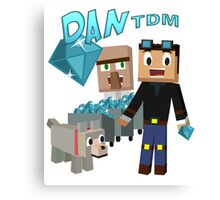 DanTDM The Diamond Minecart - Minecraft Youtuber Canvas Print