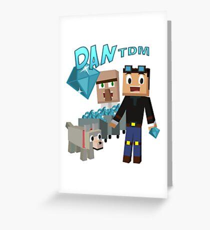DanTDM The Diamond Minecart - Minecraft Youtuber Greeting Card