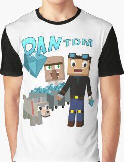 DanTDM The Diamond Minecart - Minecraft Youtuber Graphic T-Shirt