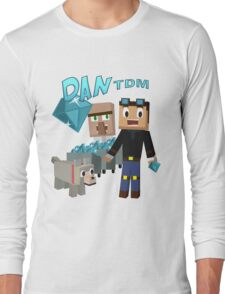 DanTDM The Diamond Minecart - Minecraft Youtuber Long Sleeve T-Shirt