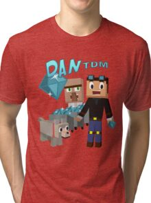 DanTDM The Diamond Minecart - Minecraft Youtuber Tri-blend T-Shirt