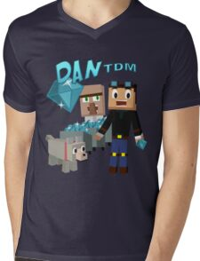 DanTDM The Diamond Minecart - Minecraft Youtuber Mens V-Neck T-Shirt