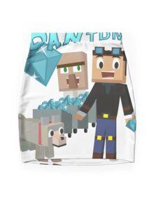 DanTDM The Diamond Minecart - Minecraft Youtuber Mini Skirt
