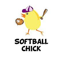 Softball Chick Photographic Print