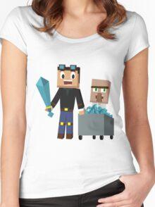 The Diamond Minecart DanTDM and Doctor Trayaurus - Minecraft Youtuber Women's Fitted Scoop T-Shirt