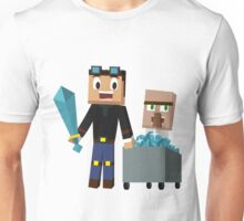The Diamond Minecart DanTDM and Doctor Trayaurus - Minecraft Youtuber Unisex T-Shirt
