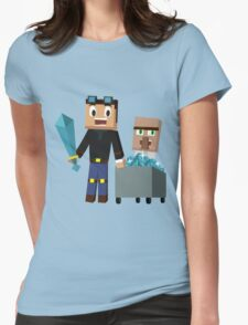 The Diamond Minecart DanTDM and Doctor Trayaurus - Minecraft Youtuber Womens Fitted T-Shirt