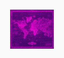 Vintage Map of The World (1833) Purple & Pink Unisex T-Shirt
