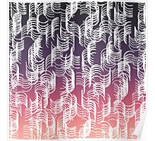 Modern Abstract Circles Peach to Purple Gradient Poster