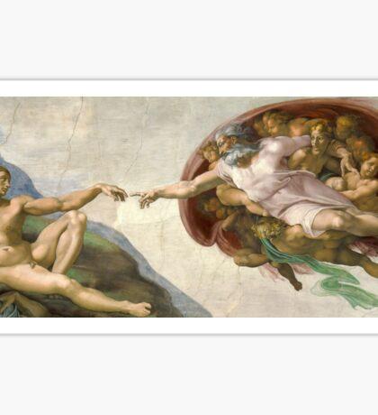 Creation of Adam - Painted by Michelangelo Sticker