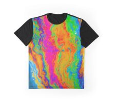 Tie-dye Oil Slick on Water Graphic T-Shirt