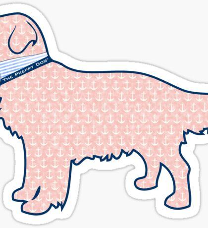 Faded Nantucket Red Nautical Preppy Retriever Dog Sticker