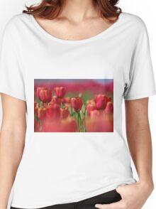 Orange Tulip Field Women's Relaxed Fit T-Shirt