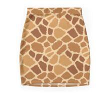 Giraffe Fur Texture Mini Skirt
