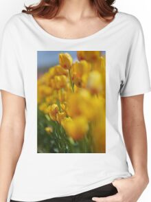 Yellow Tulips Women's Relaxed Fit T-Shirt