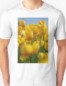 Yellow Field of Tulips Unisex T-Shirt