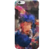 Abstract Baseball Player iPhone Case/Skin