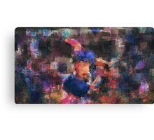 Abstract Baseball Player Canvas Print