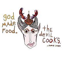 The Devil Cooks Photographic Print