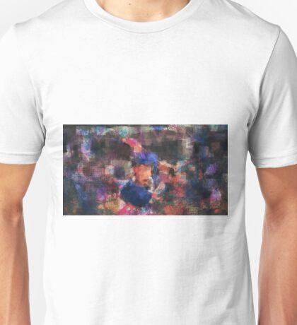 Abstract Baseball Player Unisex T-Shirt