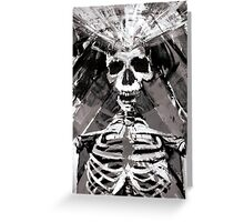 Evolution Black and White Greeting Card