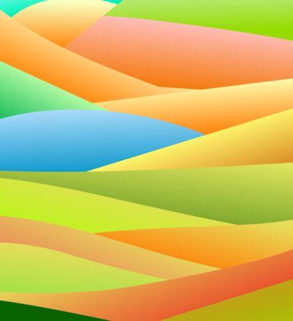 Colour landscape Sticker