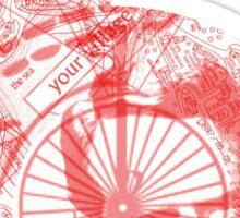 Number 6 - Red Version. Sticker