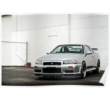 Nissan Skyline GTR R34 Poster