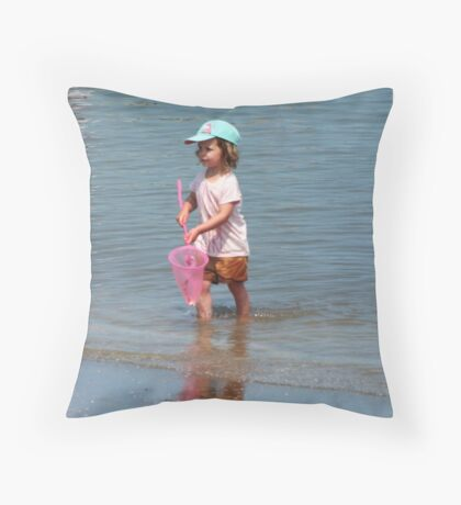 Annette with A Net Throw Pillow