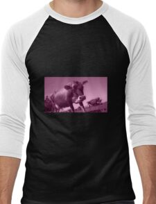 Mooving On  Men's Baseball ¾ T-Shirt