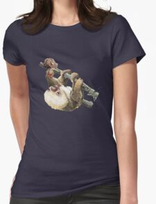 Baby Sloth Womens Fitted T-Shirt