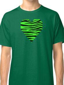 0454 Neon Green Tiger Classic T-Shirt