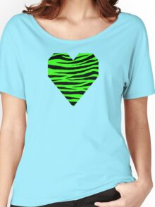 0454 Neon Green Tiger Women's Relaxed Fit T-Shirt