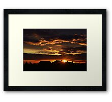 Sun Rising Over the Town Framed Print