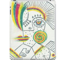 Messy ink portrait iPad Case/Skin