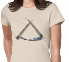 Feather triangle Womens Fitted T-Shirt