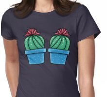 Cactus in Bloom Womens Fitted T-Shirt