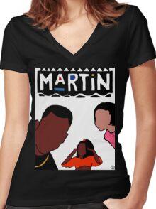 Martin (White) Women's Fitted V-Neck T-Shirt