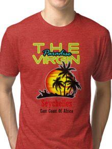 The Virgin Paradise, Seychelles Tri-blend T-Shirt