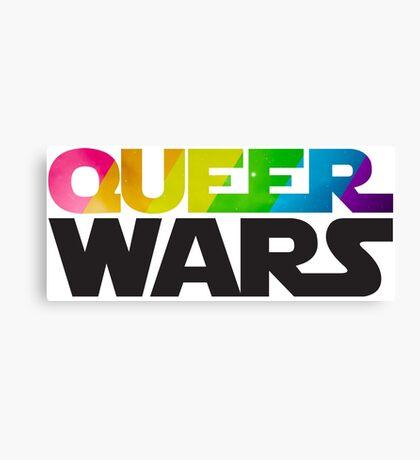 Queer Wars Rainbow Stars Parody  Canvas Print